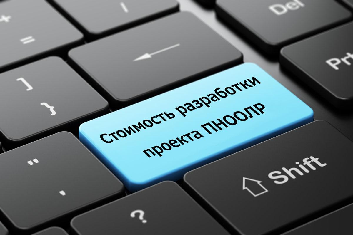 Стоимость разработки проекта ПНООЛР